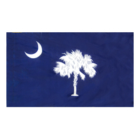 4x6 ft. Nylon South Carolina Flag Pole Hem Plain