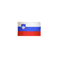 2x3 ft. Nylon Slovenia Flag with Heading and Grommets