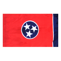 3x5 ft. Nylon Tennessee Flag Pole Hem Plain