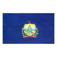 3x5 ft. Nylon Vermont Flag Pole Hem Plain