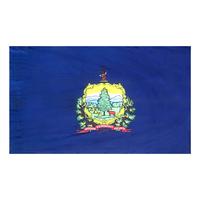 4x6 ft. Nylon Vermont Flag Pole Hem Plain