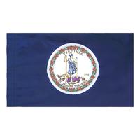 3x5 ft. Nylon Virginia Flag Pole Hem Plain