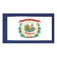 3x5 ft. Nylon West Virginia Flag Pole Hem Plain