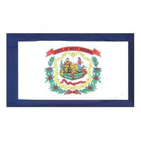 4x6 ft. Nylon West Virginia Flag Pole Hem Plain