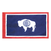 4x6 ft. Nylon Wyoming Flag Pole Hem Plain