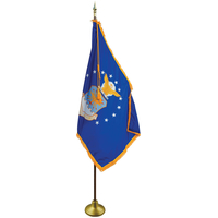 4 x 6ft. Air Force Flag Indoor Display Set w/ Gold Fringe