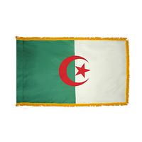 3x5 ft. Nylon Algeria Flag Pole Hem and Fringe