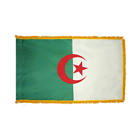4x6 ft. Nylon Algeria Flag Pole Hem and Fringe