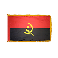 4x6 ft. Nylon Angola Flag with  Pole Hem and Fringe