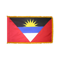 4x6 ft. Nylon Antigua/Barbuda Flag Pole Hem and Fringe