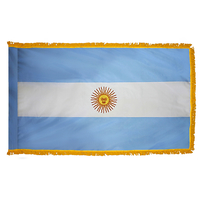 3x5 ft. Nylon Argentina Flag Pole Hem and Fringe