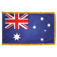 3x5 ft. Nylon Australia Flag Pole Hem and Fringe
