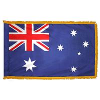 3x5 ft. Nylon Australia Flag Pole Hem and Fringe