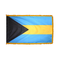 4x6 ft. Nylon Bahamas Flag Pole Hem and Fringe