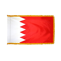 2x3 ft. Nylon Bahrain Flag Pole Hem and Fringe