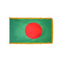 2x3 ft. Nylon Bangladesh Flag Pole Hem and Fringe