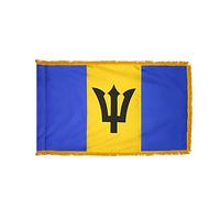 3x5 ft. Nylon Barbados Flag Pole Hem and Fringe