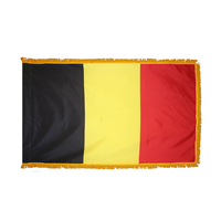 4x6 ft. Nylon Belgium Flag Pole Hem and Fringe