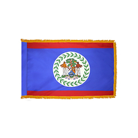 4x6 ft. Nylon Belize Flag Pole Hem and Fringe