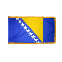 2x3 ft. Nylon Bosnia-Herzegovina Flag Pole Hem and Fringe
