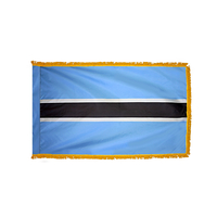 4x6 ft. Nylon Botswana Flag Pole Hem and Fringe