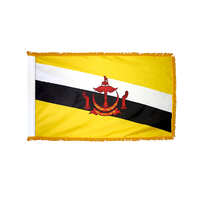 2x3 ft. Nylon Brunei Flag Pole Hem and Fringe