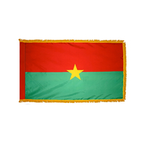 3x5 ft. Nylon Burkina Faso Flag Pole Hem and Fringe