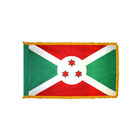 3x5 ft. Nylon Burundi Flag Pole Hem and Fringe