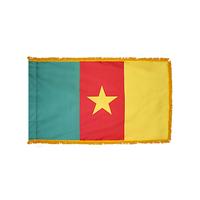 5x8 ft. Nylon Cameroon Flag Pole Hem and Fringe