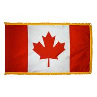 5x8 ft. Nylon Canada Flag Pole Hem and Fringe