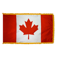 3x5 ft. Nylon Canada Flag Pole Hem and Fringe