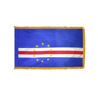 2x3 ft. Nylon Cape Verde Flag Pole Hem and Fringe