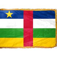 4x6 ft. Nylon Central African Republic Flag Pole Hem and Fringe