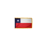 4x6 ft. Nylon Chile Flag Pole Hem and Fringe