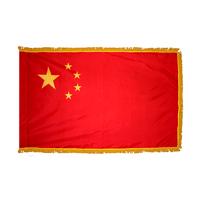 4x6 ft. Nylon China Peoples Republic Flag Pole Hem and Fringe