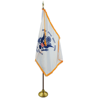 3 x 5ft. Coast Guard Flag Indoor Display Set with Gold Fringe