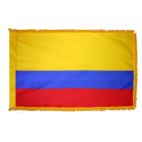 2x3 ft. Nylon Colombia Flag Pole Hem and Fringe