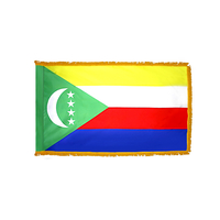 3x5 ft. Nylon Comoros Flag Pole Hem and Fringe