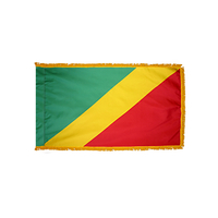 3x5 ft. Nylon Congo Republic Flag Pole Hem and Fringe