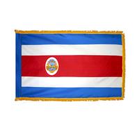 3x5 ft. Nylon Costa Rica Flag Pole Hem and Fringe
