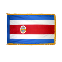 4x6 ft. Nylon Costa Rica Flag Pole Hem and Fringe