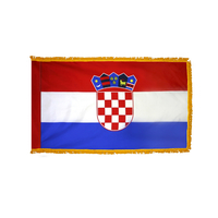 4x6 ft. Nylon Croatia Flag Pole Hem and Fringe
