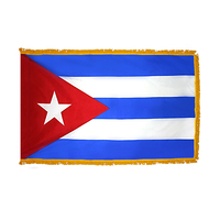 4x6 ft. Nylon Cuba Flag Pole Hem and Fringe