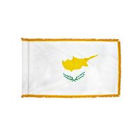 3x5 ft. Nylon Cyprus Flag Pole Hem and Fringe