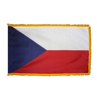 4x6 ft. Nylon Czech Republic Flag Pole Hem and Fringe