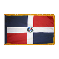 4x6 ft. Nylon Dominican Republic Flag Pole Hem and Fringe