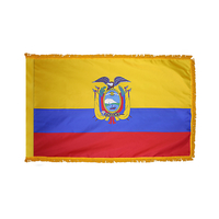 3x5 ft. Nylon Ecuador Flag Pole Hem and Fringe