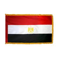 4x6 ft. Nylon Egypt Flag Pole Hem and Fringe