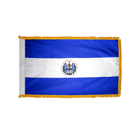 3x5 ft. Nylon El Salvador Flag Pole Hem and Fringe