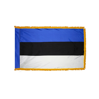 2x3 ft. Nylon Estonia Flag Pole Hem and Fringe